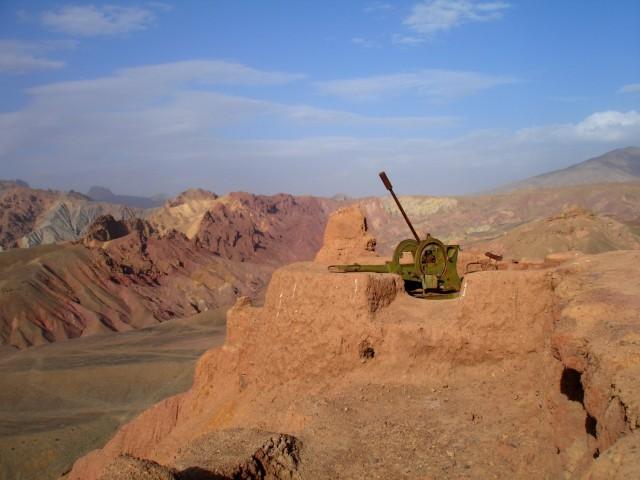 Russian AA Gun Atop Shar-i-Zohak