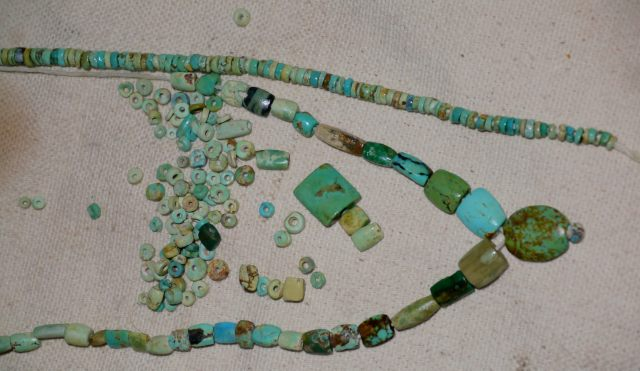 Antique turquoise beads
