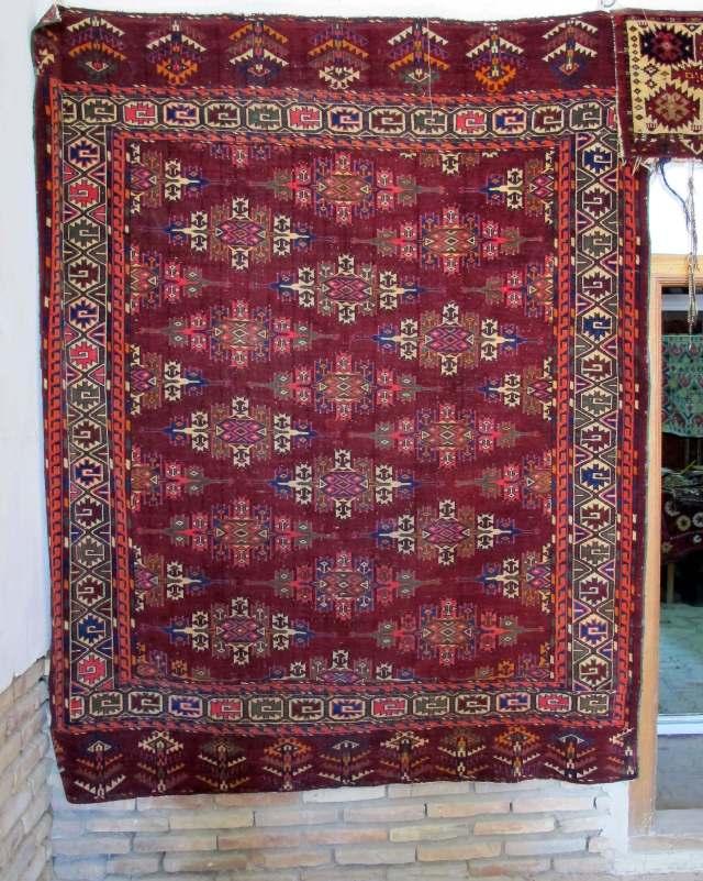 Antique Yomud Turkoman rug