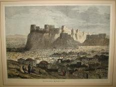 Lithograph - Citadel of Herat - 1879
