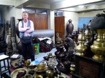 Johnny in Bishnu's Back Room - Kathmandu, Nepal