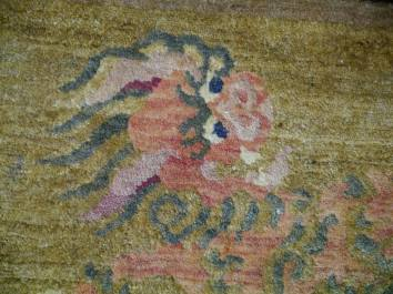 Snow Lion Carpet - close-up