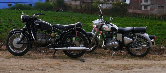 The silver Enfield I rode