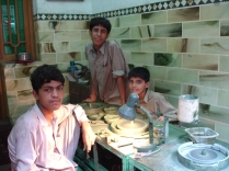 Boys cutting gemstones - Peshawar