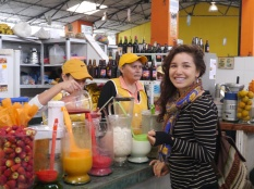 Juice Stand . In the Mercado - Baños