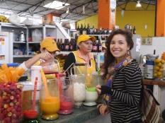 Juice Stand . In the Mercado - Baños