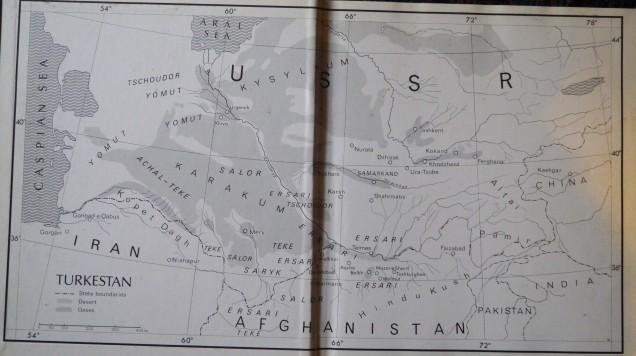Map of Turkestan