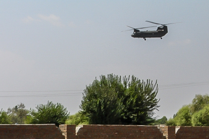 US Chopper - outside Jalalabad