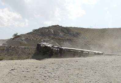 Truck Wreak - road to kabul