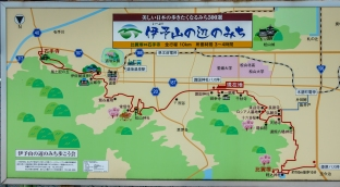 Matsuyama - Map of the Pilgrimage Route to the nearest of the 88 Buddhist Temple