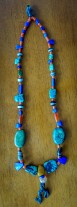 Antique Necklace with Bronze Pendant